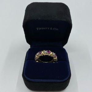 TIFFANY & Co. 18K Gold Platinum Schlumberger Ruby